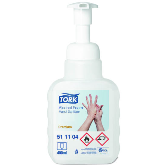 Tork kézfertőtlenítő hab  400 ml, átlátszó, pumpás
